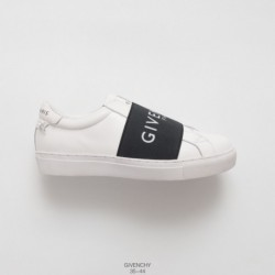 Givenchy -Black-Leather-Shoes-UNISEX-Factory-Lacing-Top-Grain-leather-High-luxury-brand- Givenchy -Urban-Street-logo-print-leat